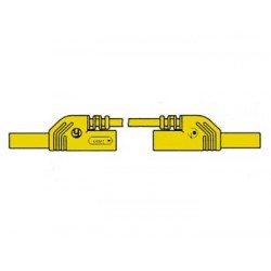 CONTACT PROTECTED MEASURING LEAD 4mm 50cm / YELLOW (MLB-SH/WS 50/1)