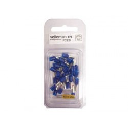 CORD END SLEEVE CONNECTOR - 2.50mm² (BLUE)