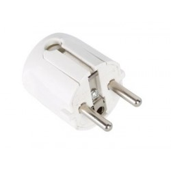 SCHUKO MALE PLUG CABLE EXIT 90° ABS