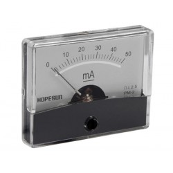 ANALOGUE CURRENT PANEL METER 50mA DC / 60 x 47mm