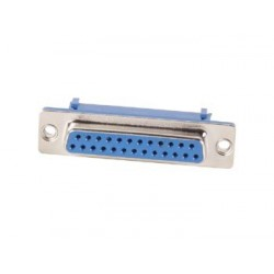FEMALE 25-PIN SUB-D CONNECTOR FOR FLAT CABLE