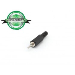 2.5mm JACK MALE CONNECTOR - PLASTIC BLACK MONO