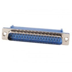 MALE 37-PIN SUB-D CONNECTOR FOR FLAT CABLE