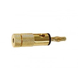 BANANA PLUGS 4mm GOLD - BLACK