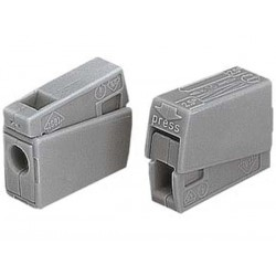 LIGHTING CONNECTOR, 2.5mm, 105°, GREY