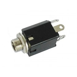 6.35mm FEMALE JACK CONNECTOR - WITH SWITCH - MONO