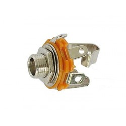 6.35mm FEMALE JACK CONNECTOR - OPEN CIRCUIT CHASSIS - STEREO
