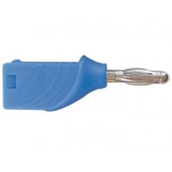 BANANA PLUG 4mm STACKABLE - BLUE