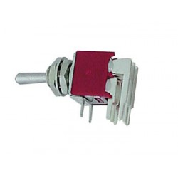 90° HORIZONTAL SUBMINIATURE TOGGLE SWITCH DPDT ON-ON