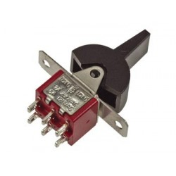 VERTICAL PCB PADDLE SWITCH DPDT (ON)-OFF-(ON)