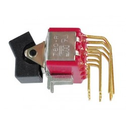 90° VERTICAL PCB ROCKER SWITCH 4PDT ON-ON