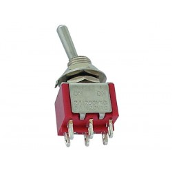 VERTICAL TOGGLE SWITCH DPDT ON-ON