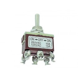 MAXI TOGGLE SWITCH DPDT ON-ON 10A/250V