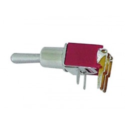 90° HORIZONTAL SUBMINIATURE TOGGLE SWITCH SPDT ON-ON - NO THREAD