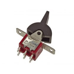 VERTICAL ROCKER PADDLE SWITCH DPDT ON-(ON)