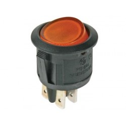 ILLUMINATED ROCKER SWITCH - AMBER - DPST/ON-OFF