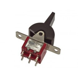 VERTICAL PCB PADDLE SWITCH DPDT ON-OFF-(ON)