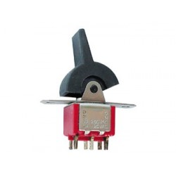 VERTICAL PCB PADDLE SWITCH DPDT ON-ON