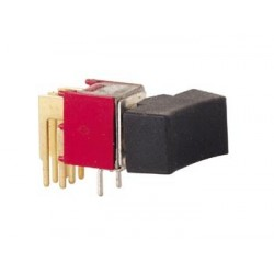90° HORIZONTAL SUBMINIATURE ROCKER SWITCH DPDT ON-ON
