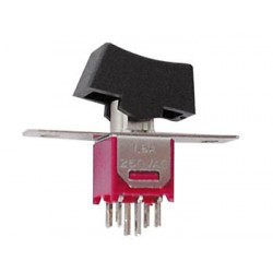 VERTICAL SUBMINIATURE ROCKER SWITCH DPDT ON-ON