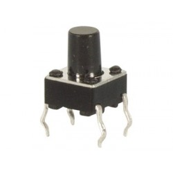 TACTILE SWITCH 6 x 6mm HEIGHT : 9.5mm