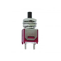 VERTICAL SUBMINIATURE PUSH-BUTTON SWITCH - SPST OFF-(ON)
