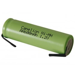 Ni-MH CELL 1.2V-600mAh WITH SOLDER LIPS (bulk)