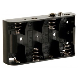 BATTERY HOLDER FOR 4 x C-CELL (WITH SNAP TERMINALS)