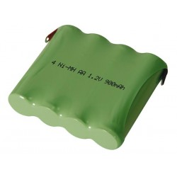 NI-MH PACK 4.8V-900mAh WITH SOLDER TAGS
