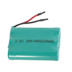 NiMH INDUSTRIAL BATTERY PACK 3.6V-600mAh WITH SOLDER WIRES