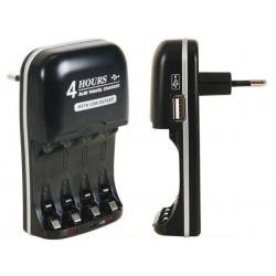 NIMH FAST BATTERY CHARGER WITH USB OUTPUT