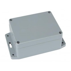 SEALED ABS BOX WITH MOUNTING FLANGE 115x90x55mm