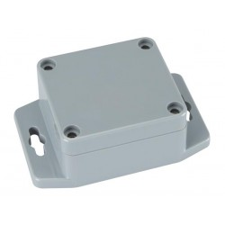SEALED ABS BOX WITH MOUNTING FLANGE 64x58x35mm