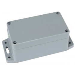SEALED ABS BOX WITH MOUNTING FLANGE 115x65x55mm