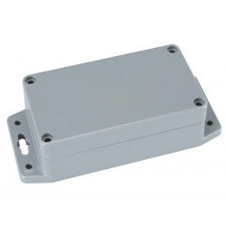 SEALED ABS BOX WITH MOUNTING FLANGE 115x65x40mm