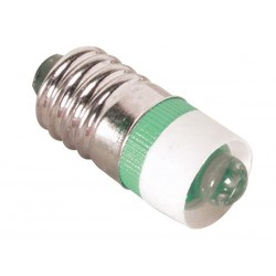 LED LAMP WITH E10 SOCKET 5mm 12V GREEN
