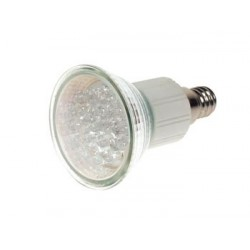 WHITE E14 LED LAMP - 240VAC - 18 LEDs