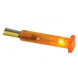SQUARE 7 x 7mm PANEL CONTROL LAMP 24V AMBER