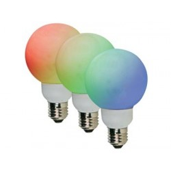 RGB LED LAMP - E27 - 20 LEDs - Ø80mm