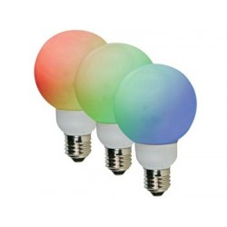 RGB LED LAMP - E27 - 20 LEDs - Ø60mm