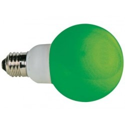 GREEN E27 LED LAMP - 230VAC - 20 LEDs