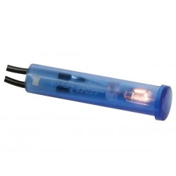 ROUND 7mm PANEL CONTROL LAMP 6V BLUE