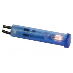 ROUND 7mm PANEL CONTROL LAMP 24V BLUE