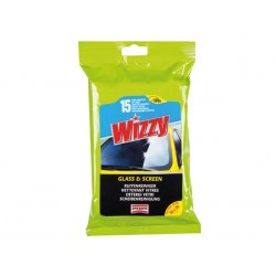 WIZZY GLASS WIPES - 15PCS/PACK
