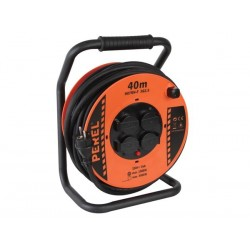 PROFESSIONAL NEOPRENE CABLE REEL - 40m - 3G2.5 - 4 SOCKETS