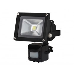 OUTDOOR LED FLOODLIGHT WITH PIR SENSOR - 10W EPISTAR CHIP - 3000K