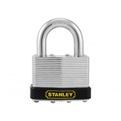 STANLEY - PADLOCK - LAMINATED STEEL - STANDARD SHACKLE  - 50 mm