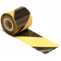 BLACK/YELLOW SAFETY TAPE - 250m