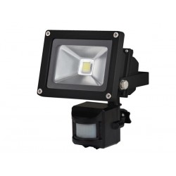 OUTDOOR LED FLOODLIGHT WITH PIR SENSOR - 10W EPISTAR CHIP - 6500K