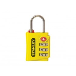 STANLEY - LUGGAGE PADLOCK - ZINC - 30 mm - 3 DIGITS - YELLOW